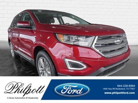 Ruby Red Metallic 2017 Ford Edge SEL