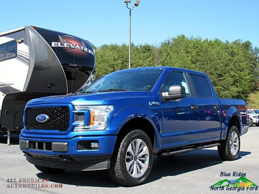 2018 F150 STX SuperCrew 4x4 - Lightning Blue / Earth Gray photo #1