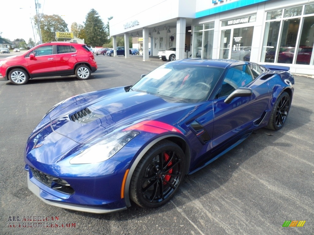 Admiral Blue / Jet Black Chevrolet Corvette Grand Sport Coupe