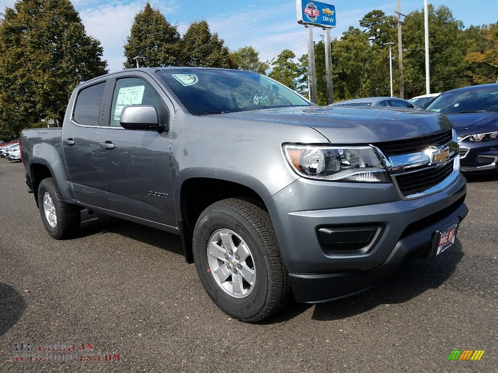 2018 Colorado WT Crew Cab - Satin Steel Metallic / Jet Black/Dark Ash photo #1