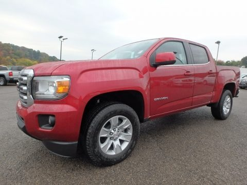 Red Quartz Tintcoat 2018 GMC Canyon SLE Crew Cab 4x4