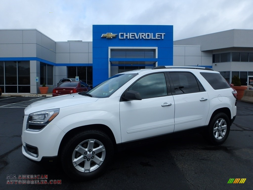 Summit White / Ebony GMC Acadia SLE