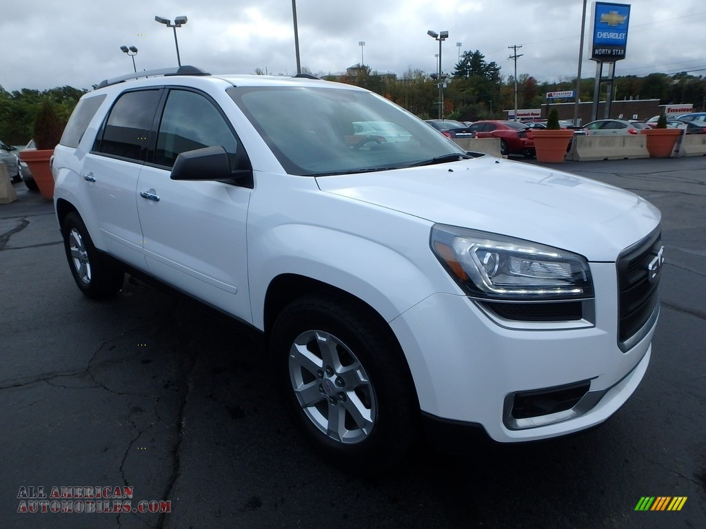 2016 Acadia SLE - Summit White / Ebony photo #11