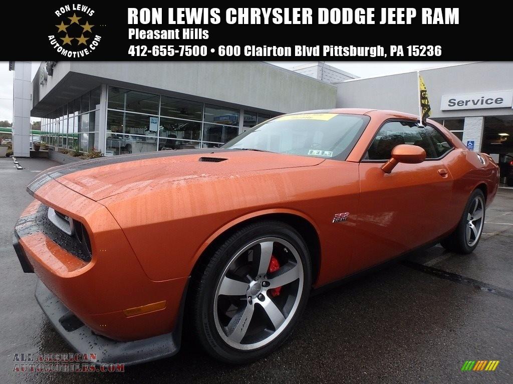 2011 Challenger SRT8 392 - Toxic Orange Pearl / Dark Slate Gray photo #1