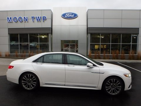 White Platinum 2017 Lincoln Continental Reserve AWD