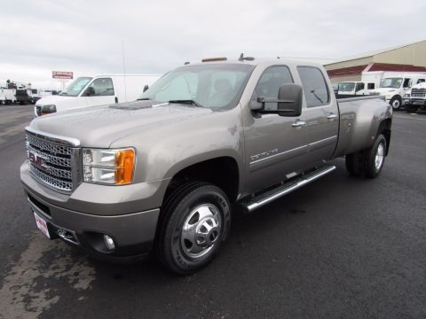 Steel Gray Metallic 2013 GMC Sierra 3500HD Denali Crew Cab 4x4 Dually