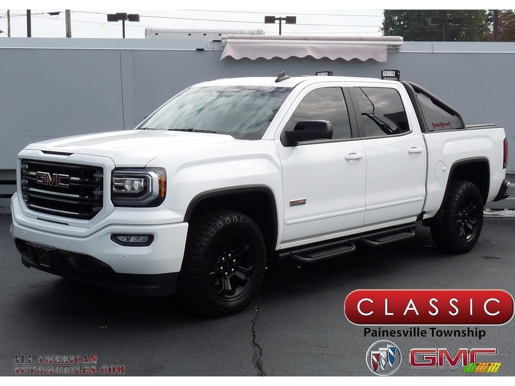 Summit White / Jet Black GMC Sierra 1500 SLT Crew Cab 4WD