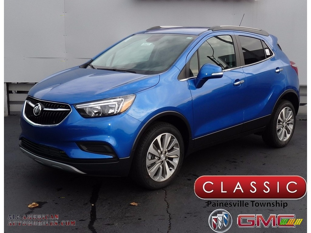 Coastal Blue Metallic / Ebony Buick Encore Preferred AWD