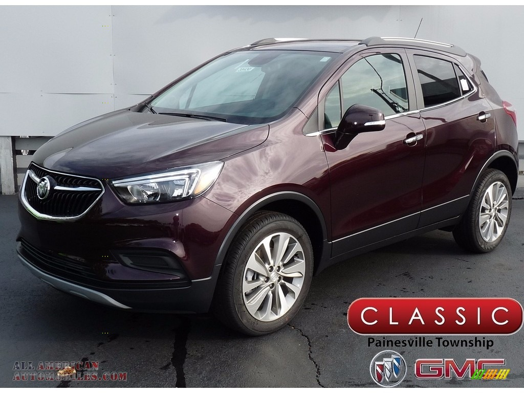 Black Cherry Metallic / Ebony Buick Encore Preferred AWD