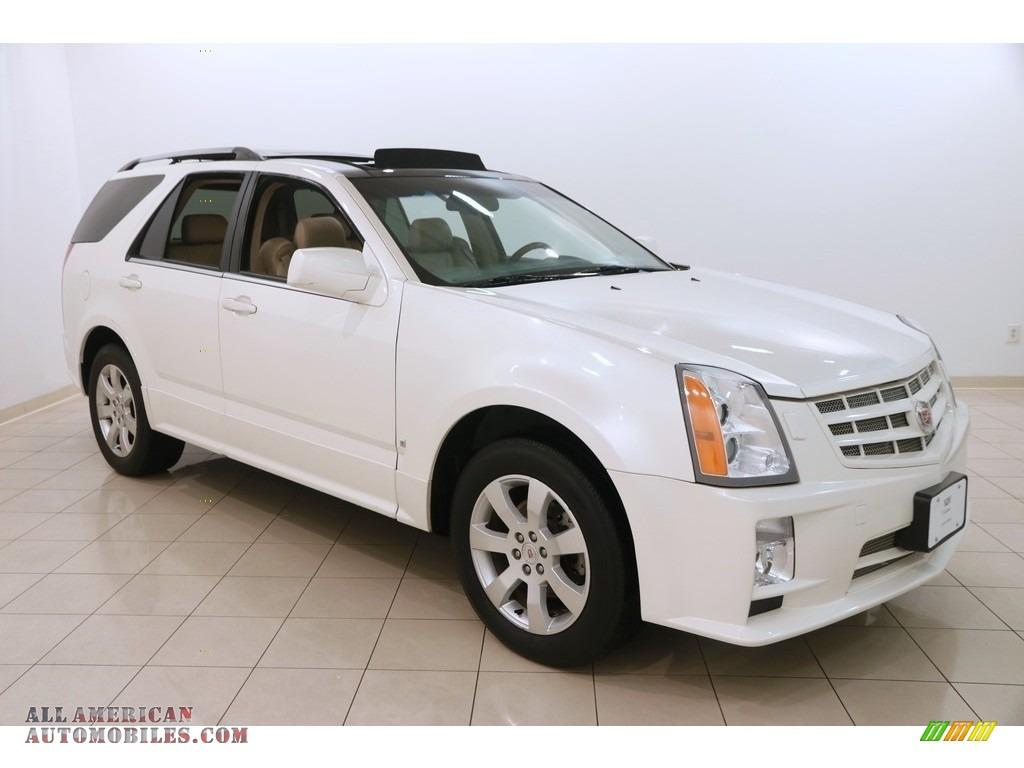 2009 SRX 4 V6 AWD - White Diamond Tri-Coat / Cocoa/Cashmere photo #1