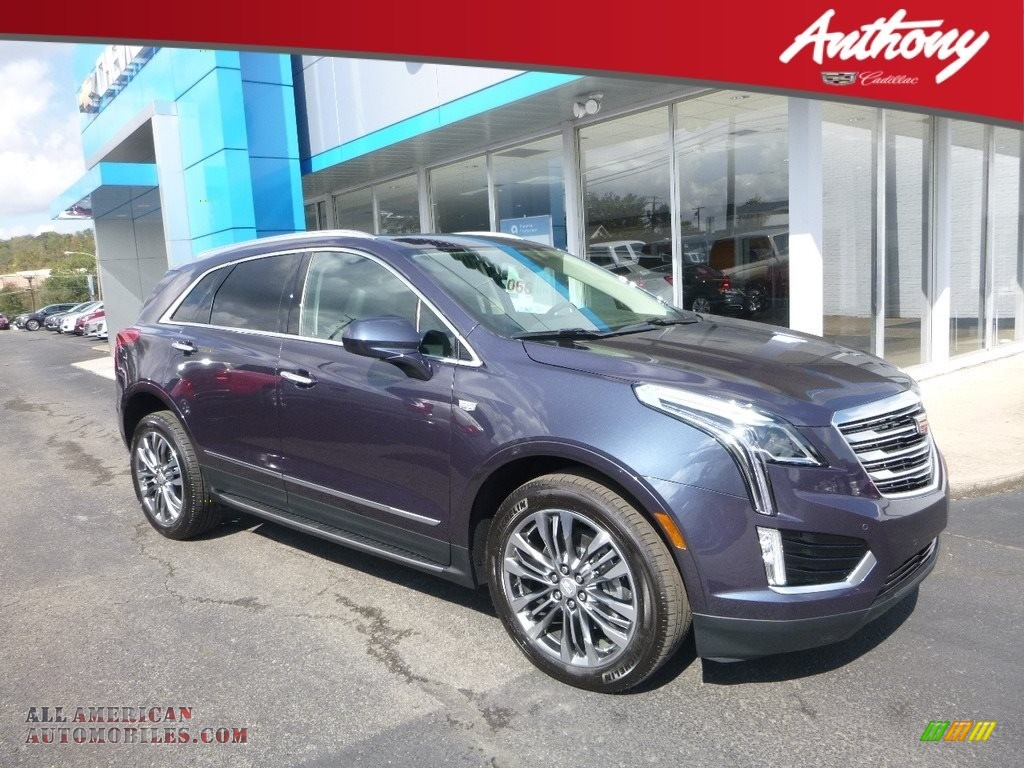 Harbor Blue Metallic / Jet Black Cadillac XT5 Premium Luxury AWD