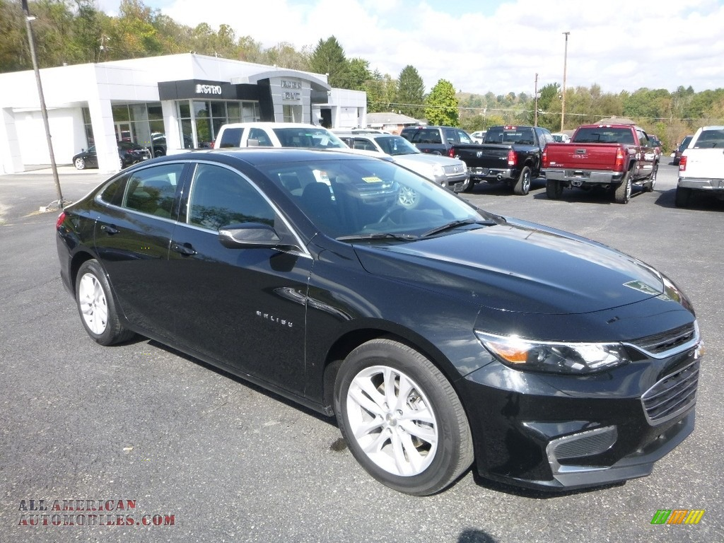 Mosaic Black Metallic / Jet Black Chevrolet Malibu LT