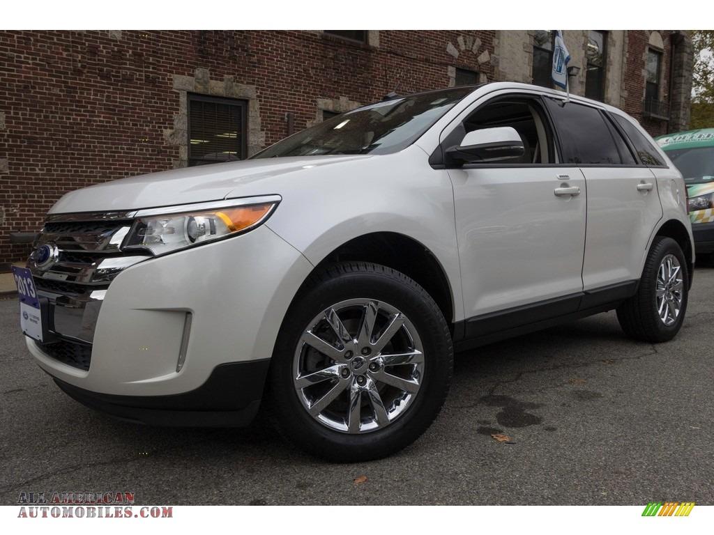 2013 Edge SEL AWD - White Platinum Tri-Coat / Medium Light Stone photo #1
