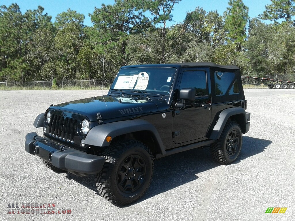 2017 Wrangler Sport 4x4 - Black / Black photo #1