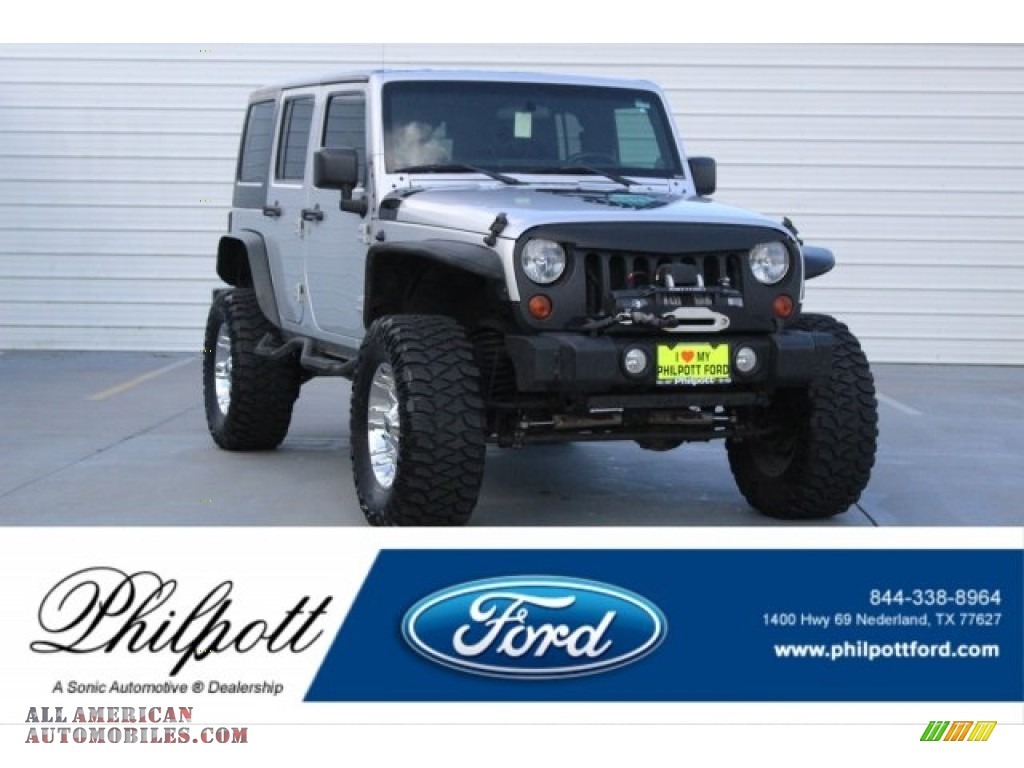 2012 Wrangler Unlimited Sport 4x4 - Bright Silver Metallic / Black photo #1