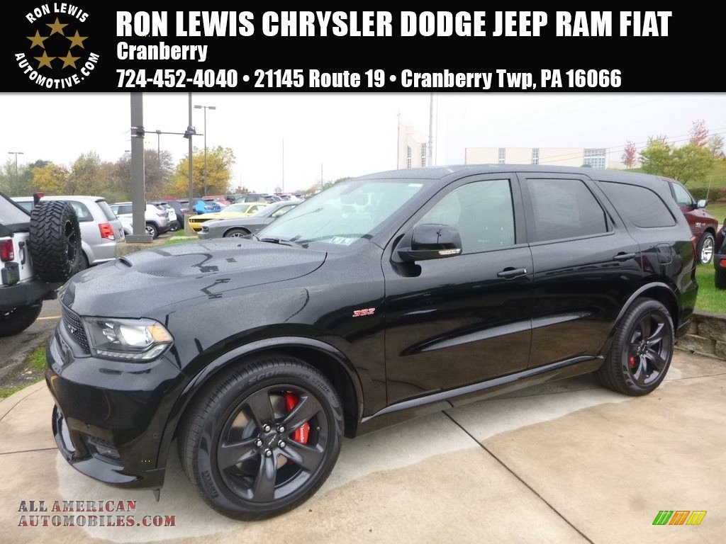2018 dodge durango srt awd in db black crystal for sale 176829 all american automobiles. Black Bedroom Furniture Sets. Home Design Ideas