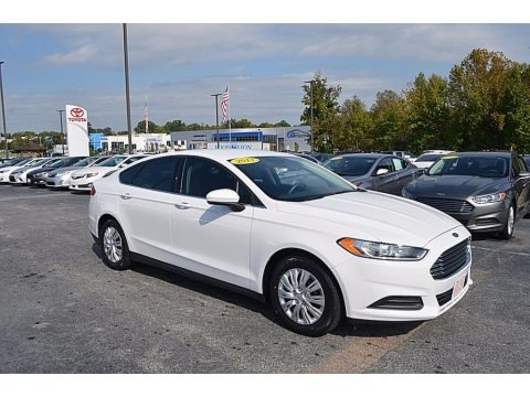Oxford White 2013 Ford Fusion S