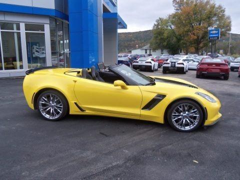 Corvette Racing Yellow Tintcoat 2016 Chevrolet Corvette Z06 Convertible