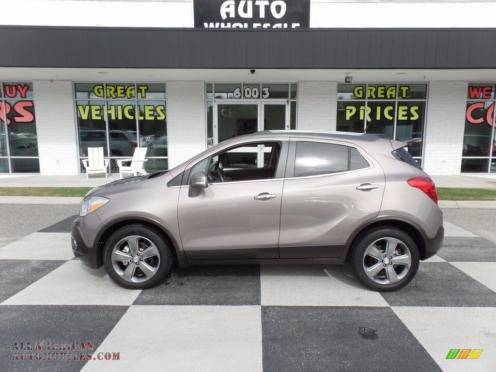 Cocoa Silver Metallic / Saddle Buick Encore Leather