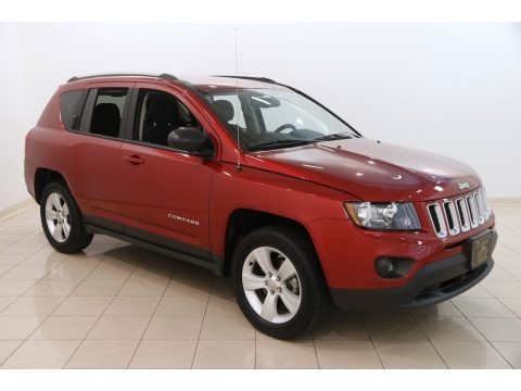 Deep Cherry Red Crystal Pearl 2017 Jeep Compass Sport 4x4