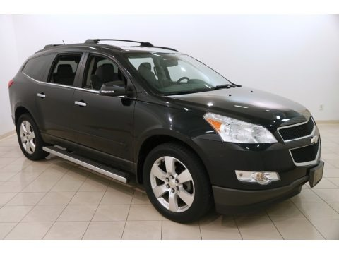Black Granite Metallic 2011 Chevrolet Traverse LT