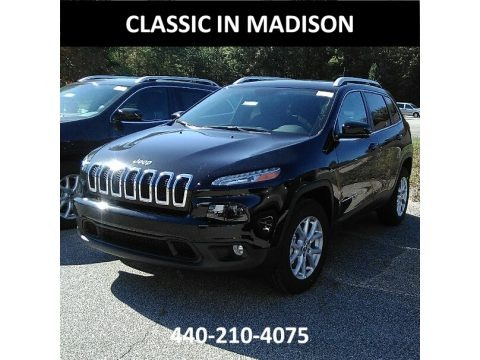 Diamond Black Crystal Pearl 2018 Jeep Cherokee Latitude Plus 4x4