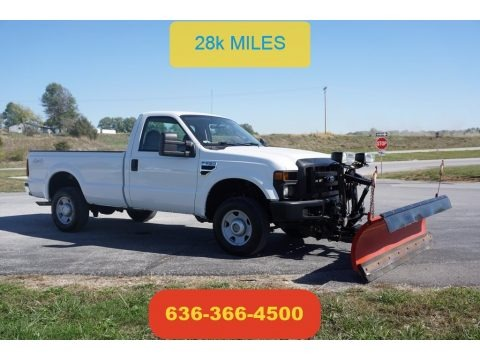 Oxford White 2008 Ford F250 Super Duty XL Regular Cab 4x4