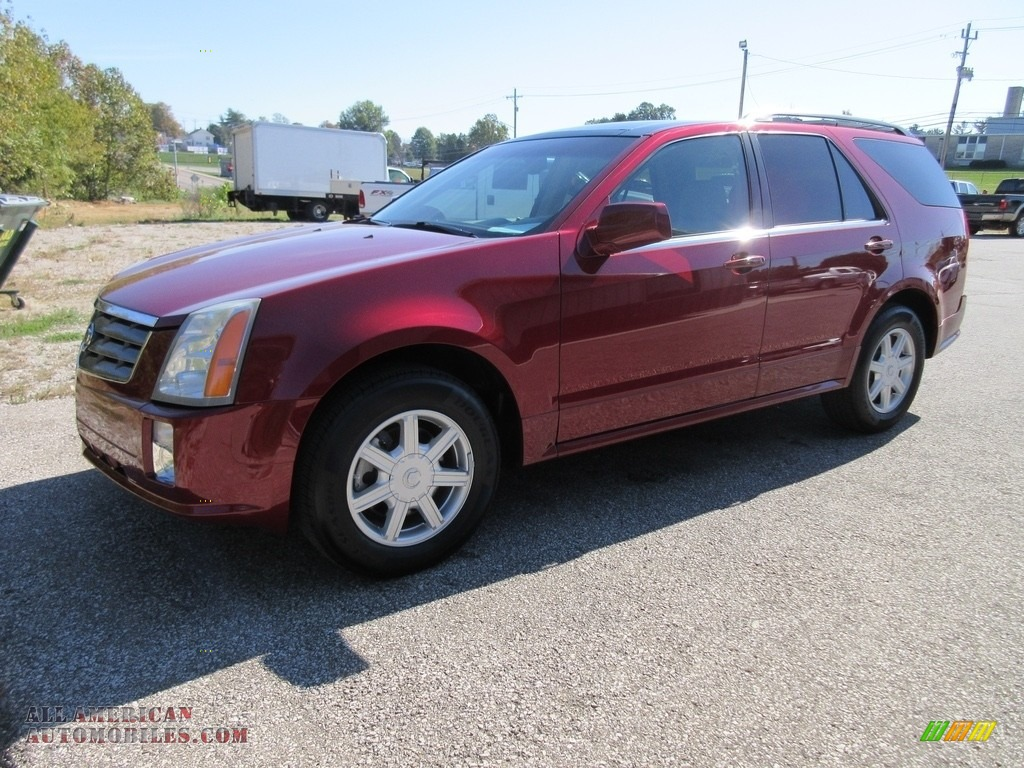 2005 cadillac srx v6 in red line 149601 all american automobiles buy american cars for. Black Bedroom Furniture Sets. Home Design Ideas
