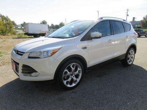 White Platinum 2014 Ford Escape Titanium 1.6L EcoBoost