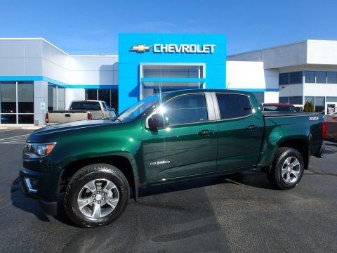 Rainforest Green Metallic 2016 Chevrolet Colorado Z71 Crew Cab 4x4