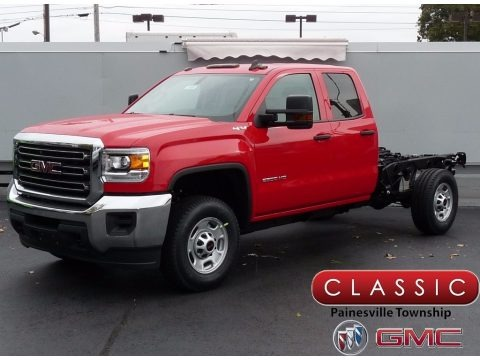 Cardinal Red 2018 GMC Sierra 2500HD Double Cab 4x4 Chassis