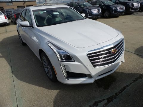 Crystal White Tricoat 2018 Cadillac CTS Luxury AWD