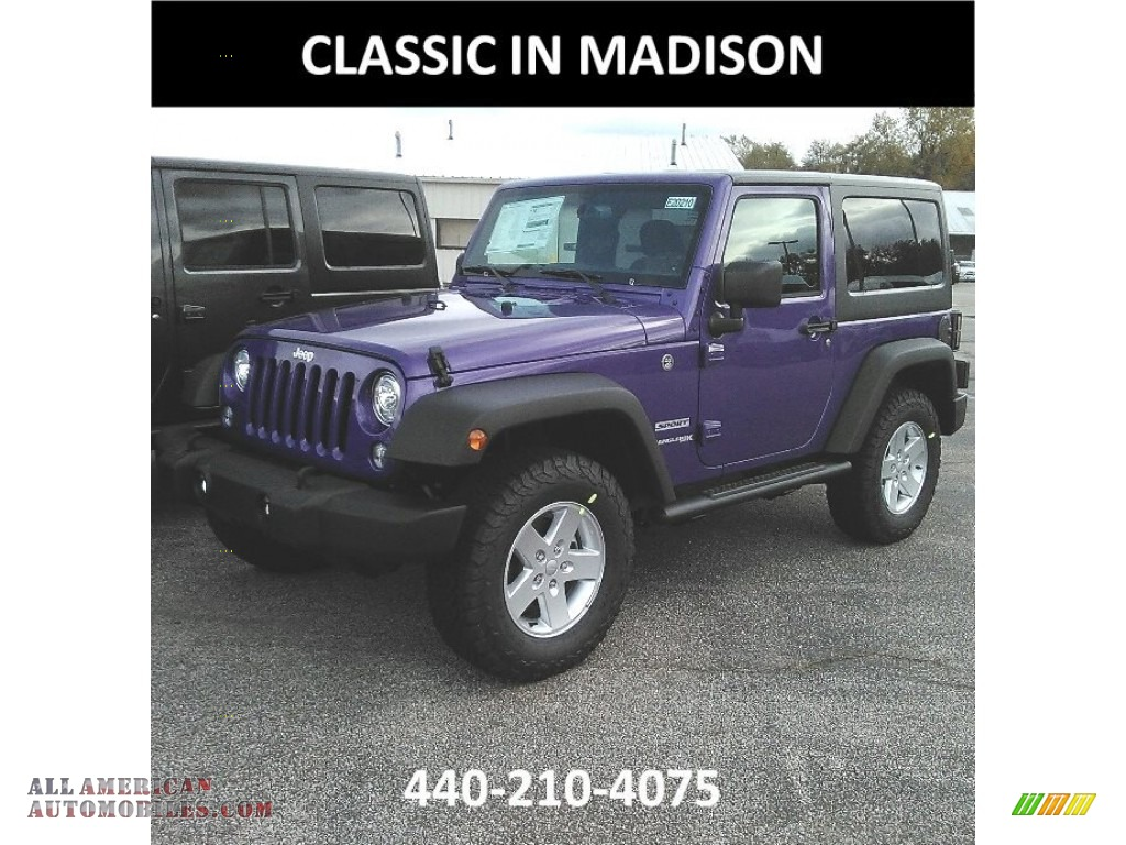 2018 Jeep Wrangler Sport 4x4 In Xtreme Purple Pearl For