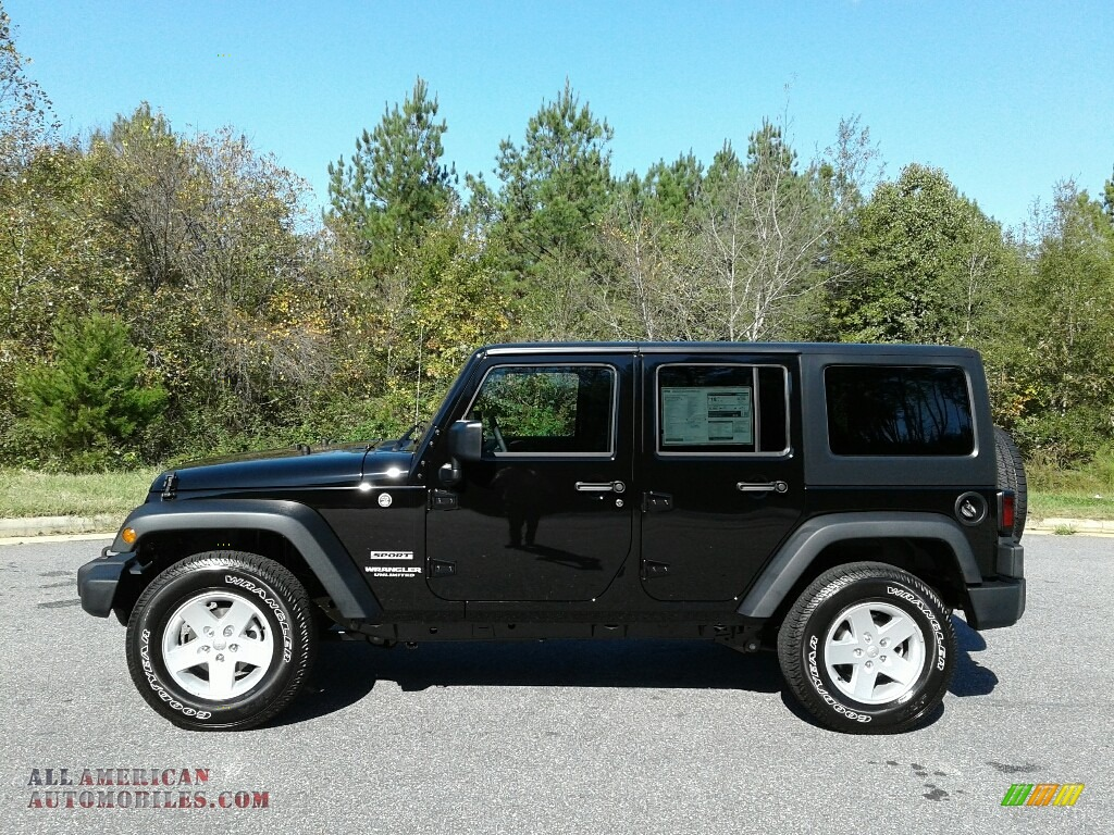 2017 jeep wrangler unlimited sport 4x4 in black for sale 751509 all american automobiles. Black Bedroom Furniture Sets. Home Design Ideas