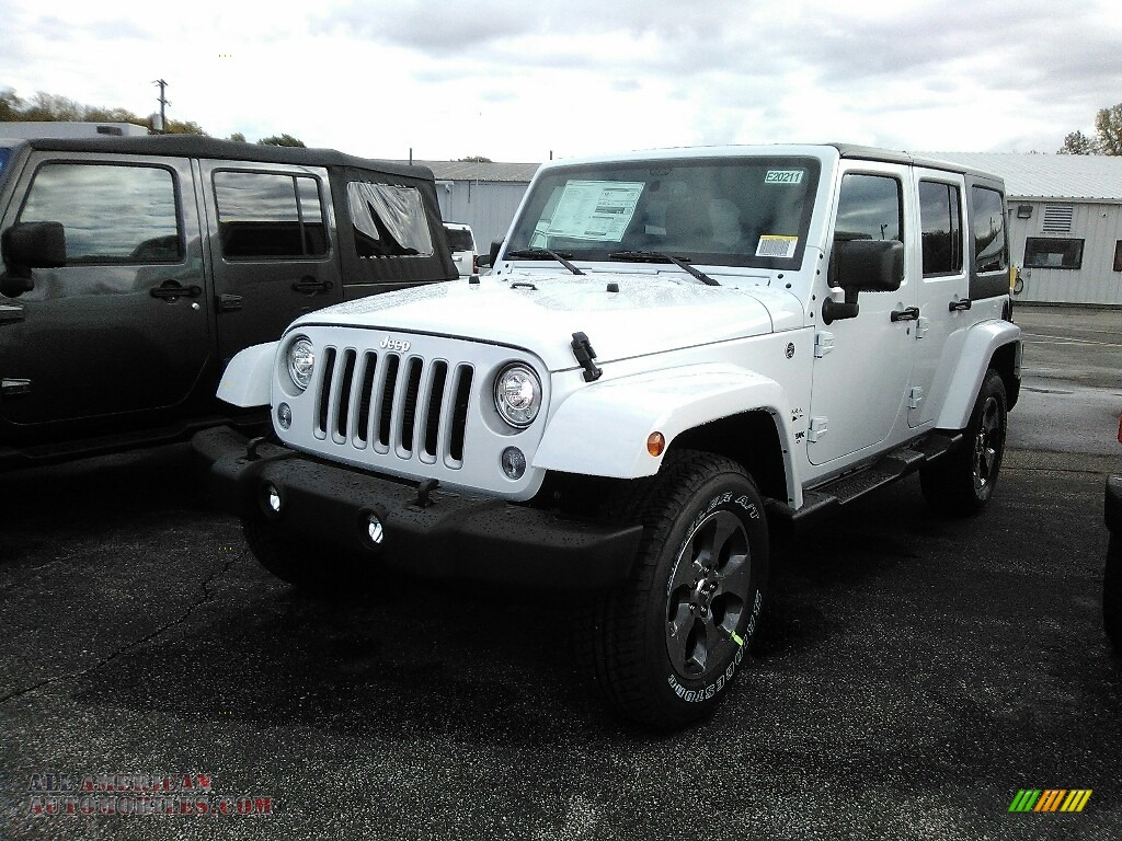2018 jeep wrangler unlimited sahara 4x4 in bright white 804360 all american automobiles. Black Bedroom Furniture Sets. Home Design Ideas
