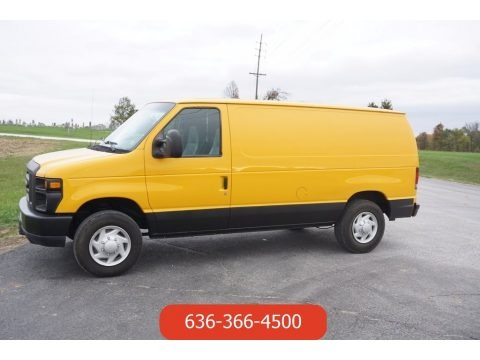 Fleet Yellow 2008 Ford E Series Van E150 Commercial