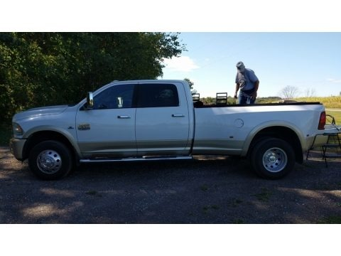 Bright White 2012 Dodge Ram 3500 HD Laramie Crew Cab 4x4 Dually