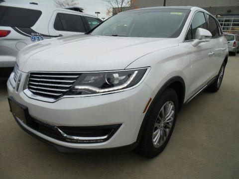 White Platinum Metallic Tri-Coat 2018 Lincoln MKX Select