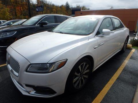 White Platinum 2017 Lincoln Continental Premier AWD