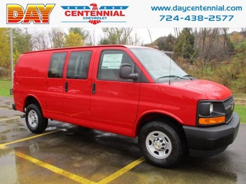 Red Hot 2017 Chevrolet Express 2500 Cargo WT