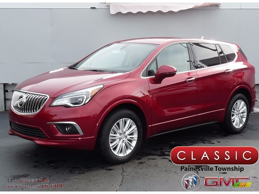 Chili Red Metallilc / Light Neutral Buick Envision Preferred AWD