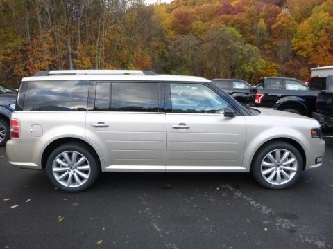 White Gold 2018 Ford Flex SEL AWD