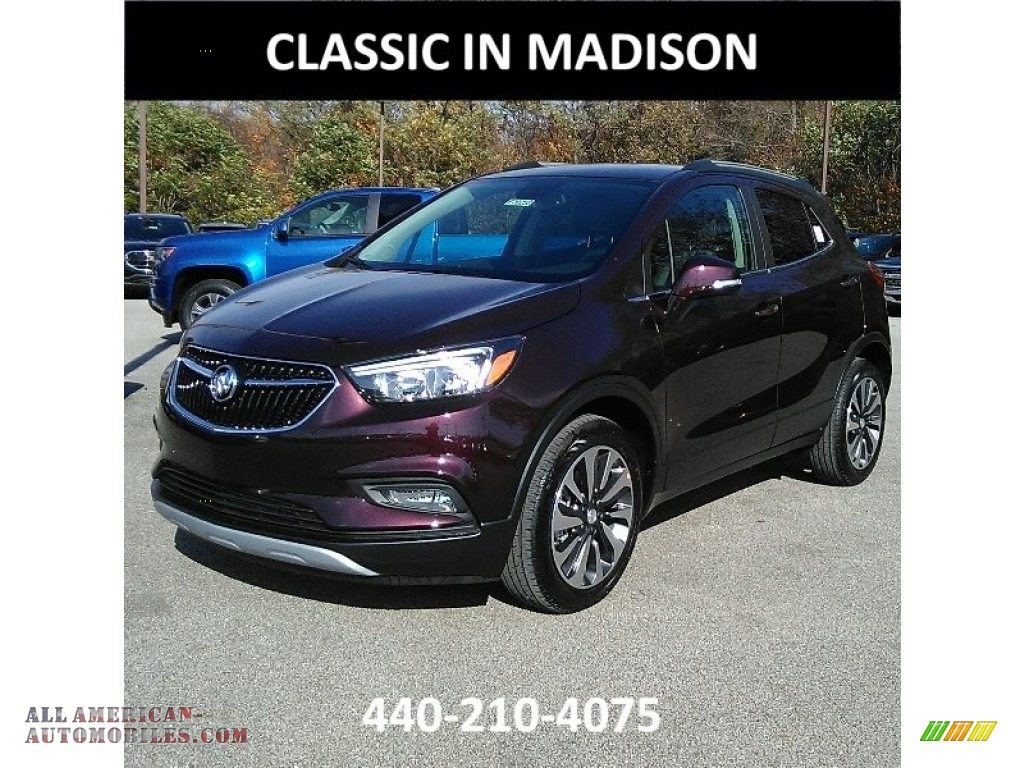 Black Cherry Metallic / Ebony Buick Encore Preferred II