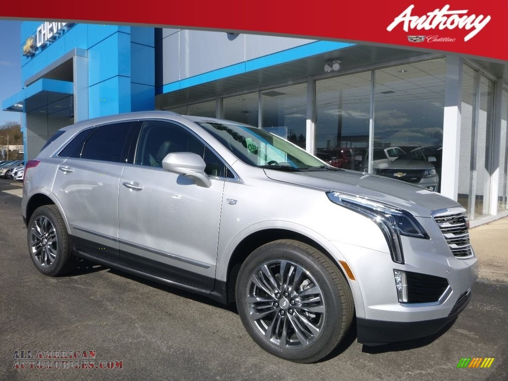 Radiant Silver Metallic / Jet Black Cadillac XT5 Premium Luxury AWD