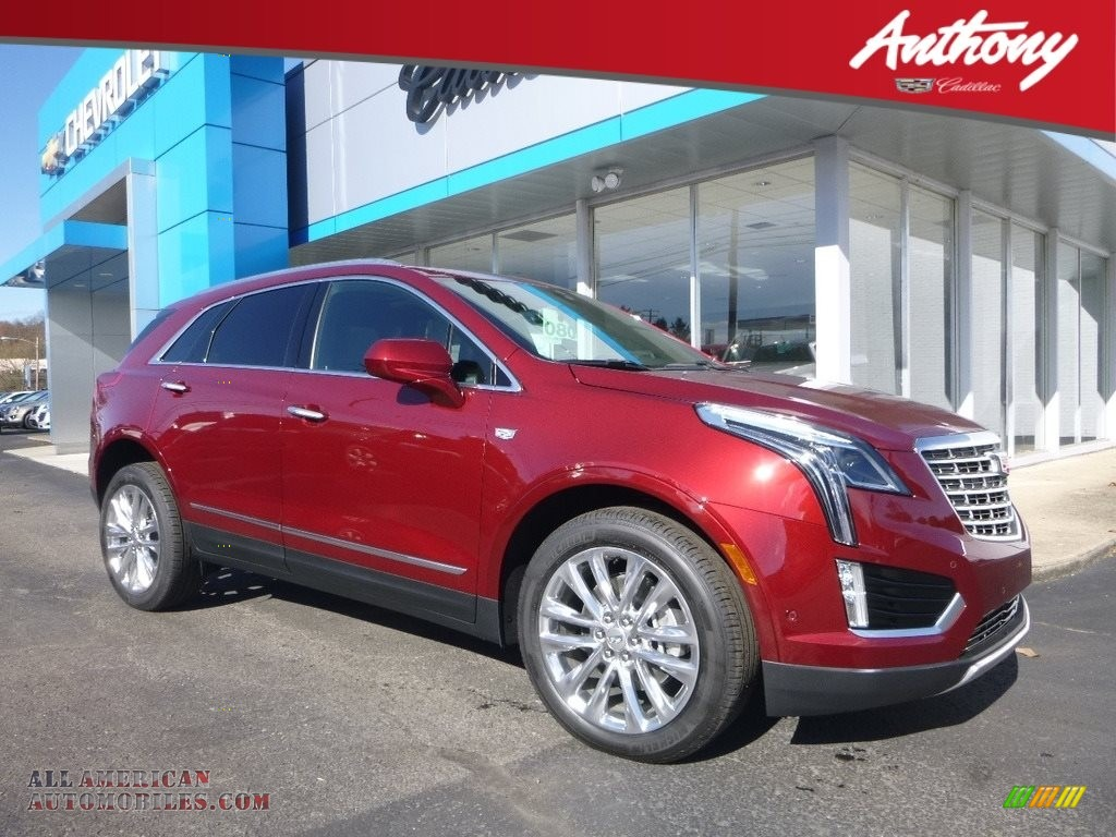 Red Passion Tintcoat / Jet Black Cadillac XT5 Platinum AWD