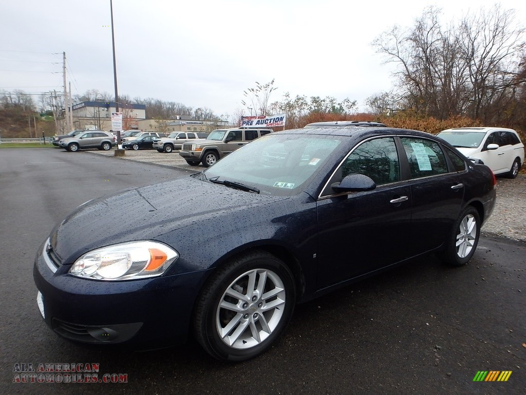 2008 Impala LTZ - Imperial Blue Metallic / Ebony Black photo #1