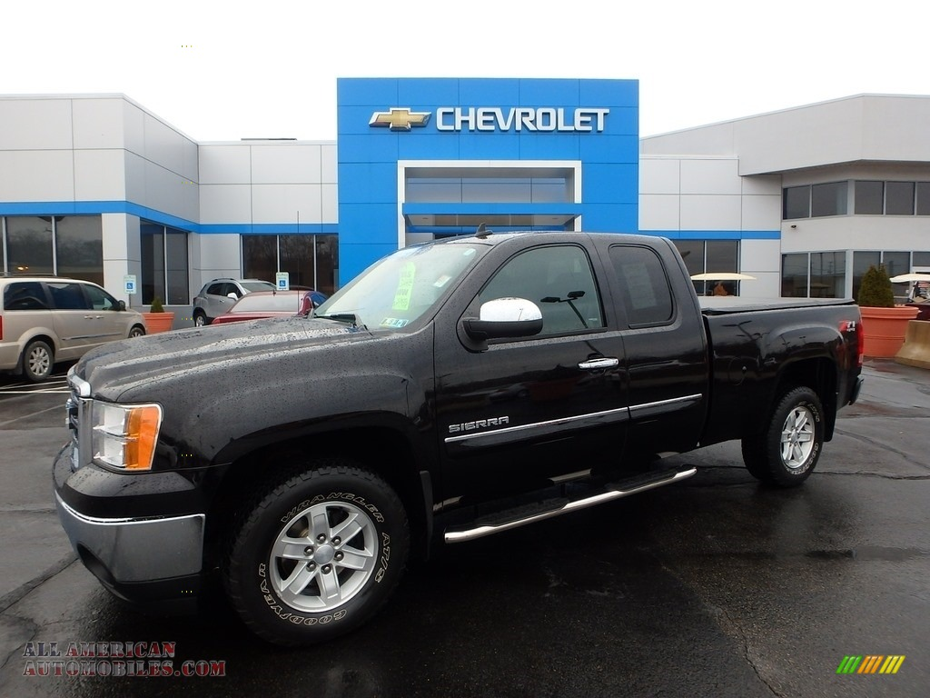 2013 Sierra 1500 SLE Extended Cab 4x4 - Deep Indigo Metallic / Ebony photo #1