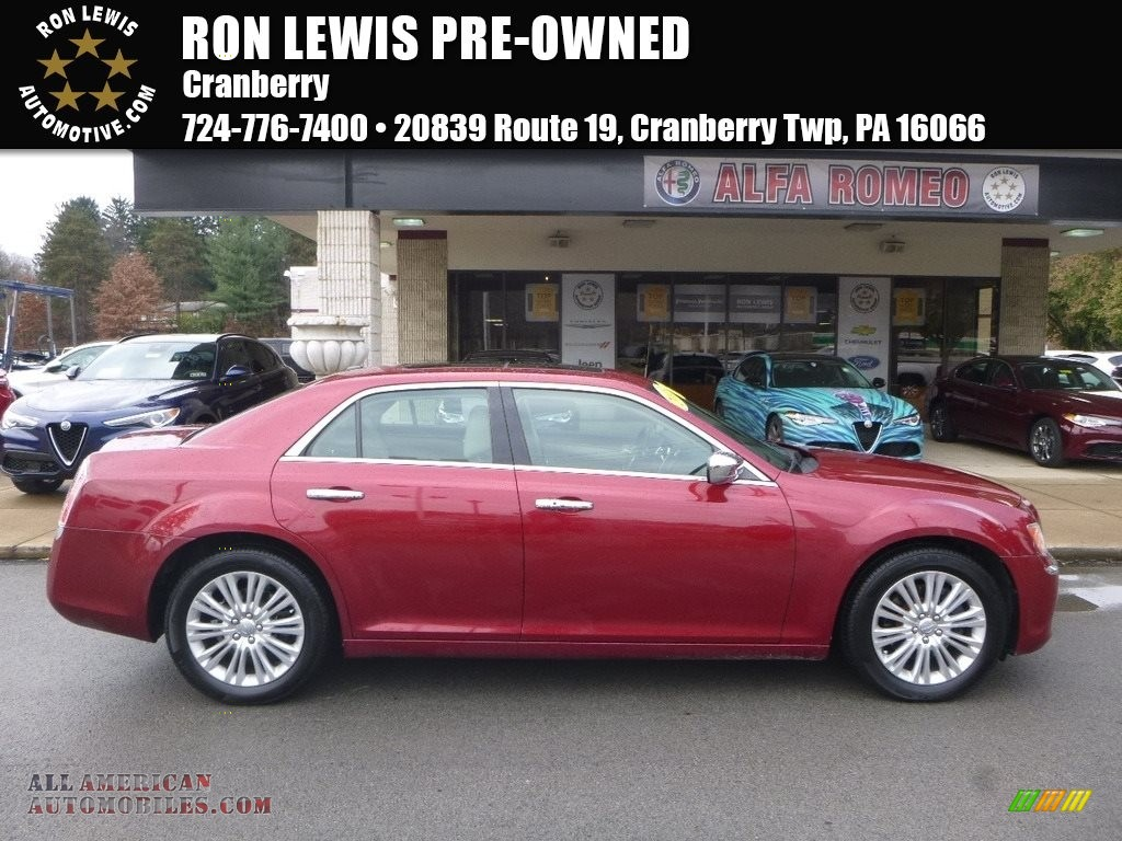 2013 300 AWD - Deep Cherry Red Crystal Pearl / Black/Light Frost Beige photo #1