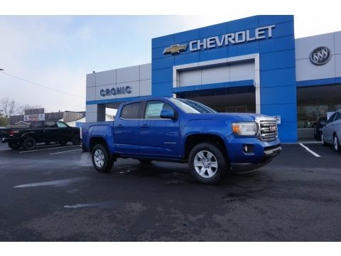 Marine Blue Metallic 2018 GMC Canyon SLE Crew Cab