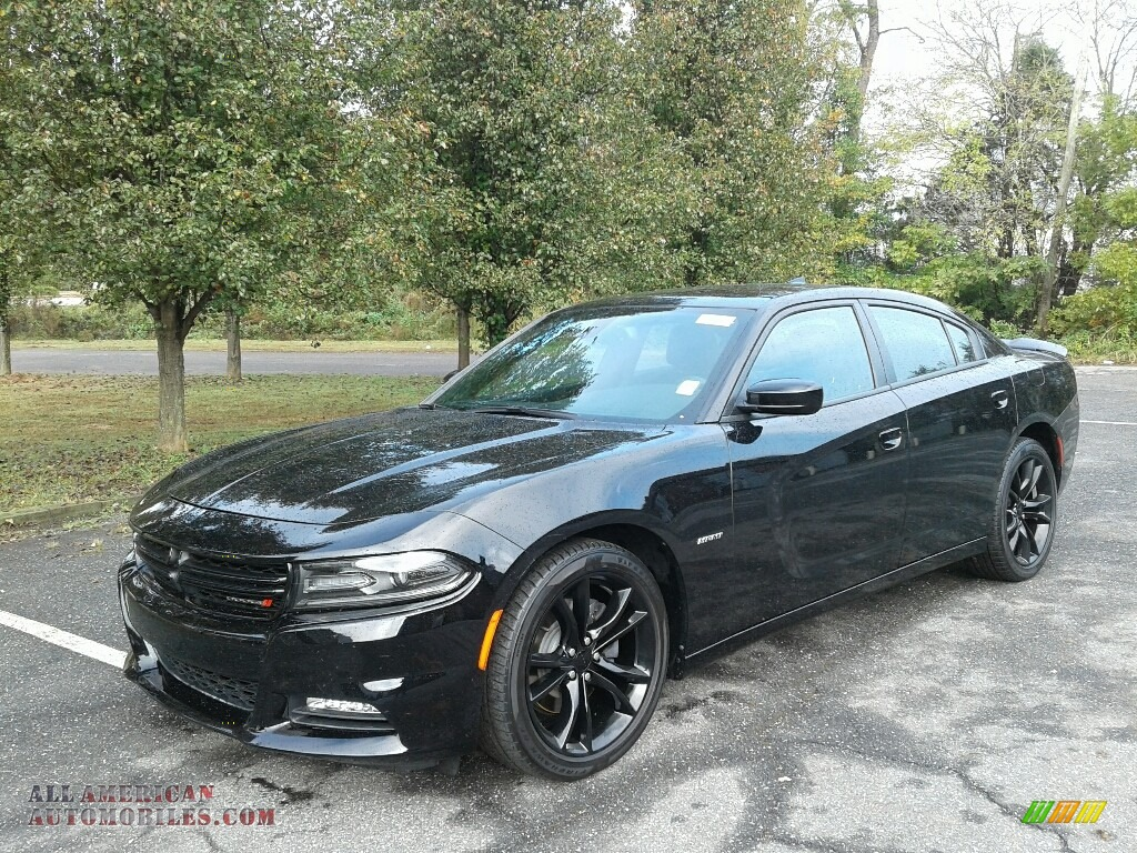 2016 Charger R/T - Pitch Black / Black photo #2